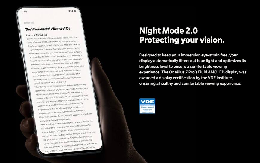 OnePlus 7 Pro レビュー ナイトモード2.0搭載で日没と共に瞳を保護する事も可能