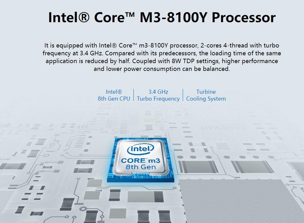 CHUWIのUMPC「MiniBook」参考写真 CPUはIntel®Core™ M8100Y搭載