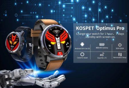【セール価格$135.99】KOSPET Optimus Pro B8対応の4G LTE スマートウォッチ