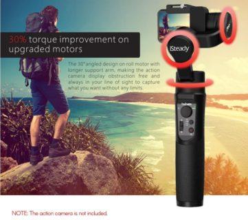 【セール価格$63.99】hohem iSteady Pro 2 アクションカメラ用ジンバルスタビライザー
