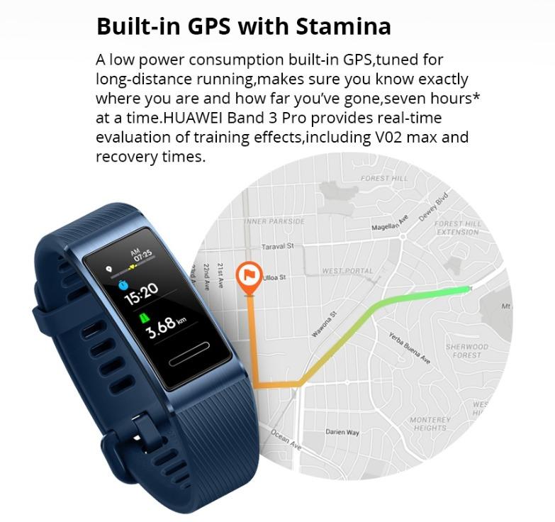 GPSで移動距離を正確に表示可能