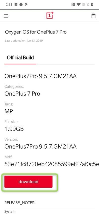 OneplusをシステムアプリからHydrogenOSをOxygenOSに焼きかえる方法