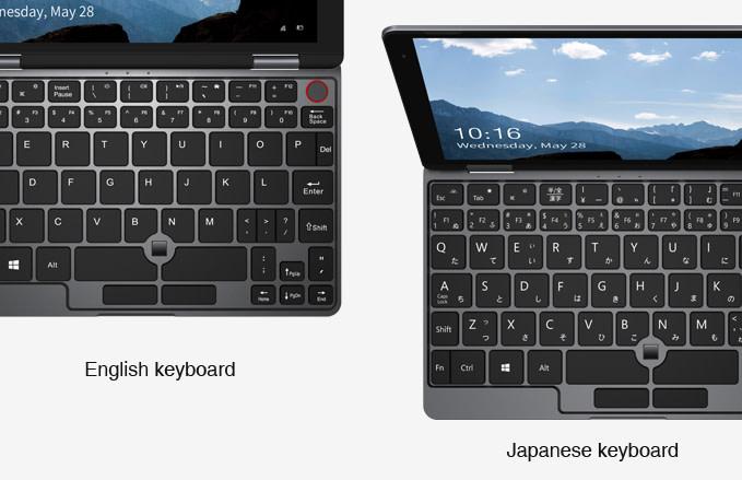 CHUWI MiniBookは日本語キーボードに対応
