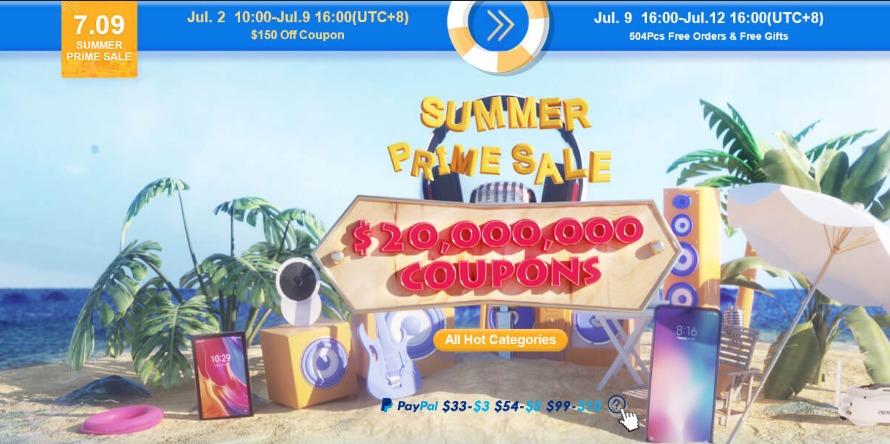 Banggood夏の特大セール