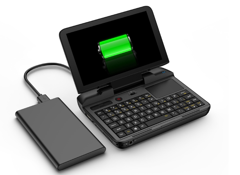 GPD MicroPCの特徴 モバイルバッテリーから給電可能