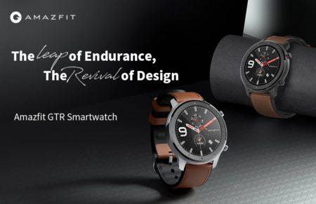 【クーポンで$119.99】Amazfit GTR 47mm登場!5ATM防水・24日間のバッテリー駆動・GPS搭載です