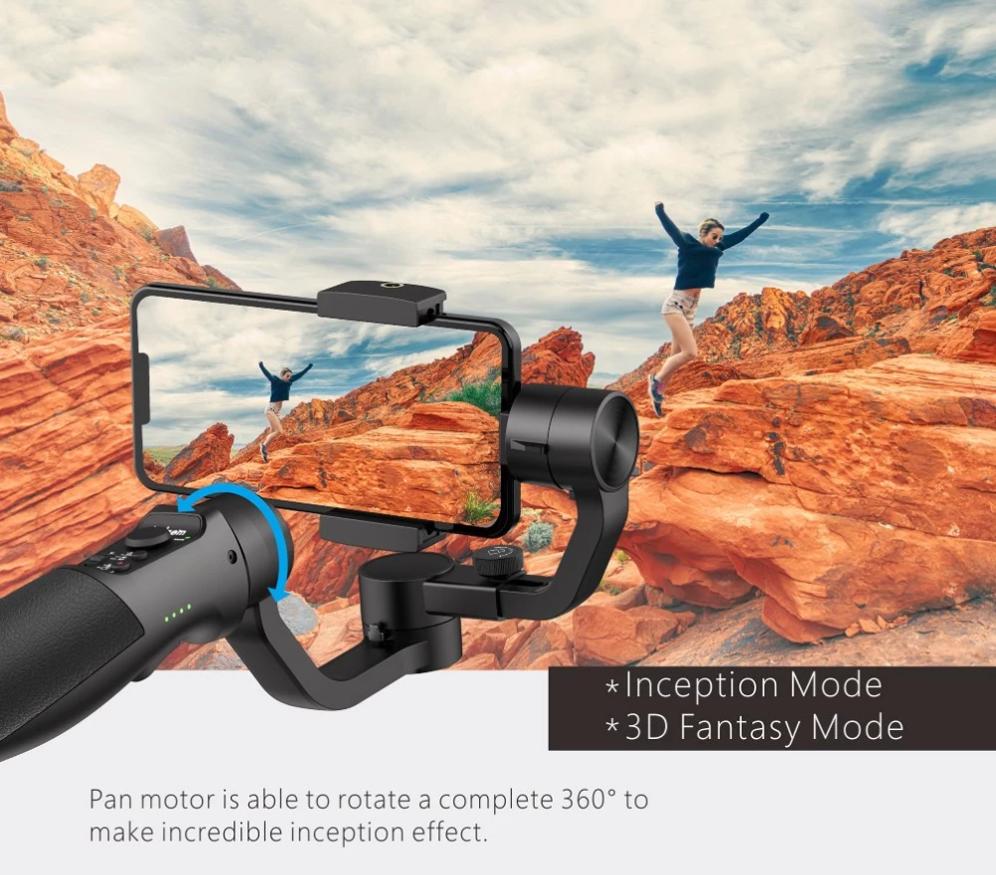 280gまで対応のHohem iSteady Mobile スマホ用の3軸ジンバルスタビライザー
