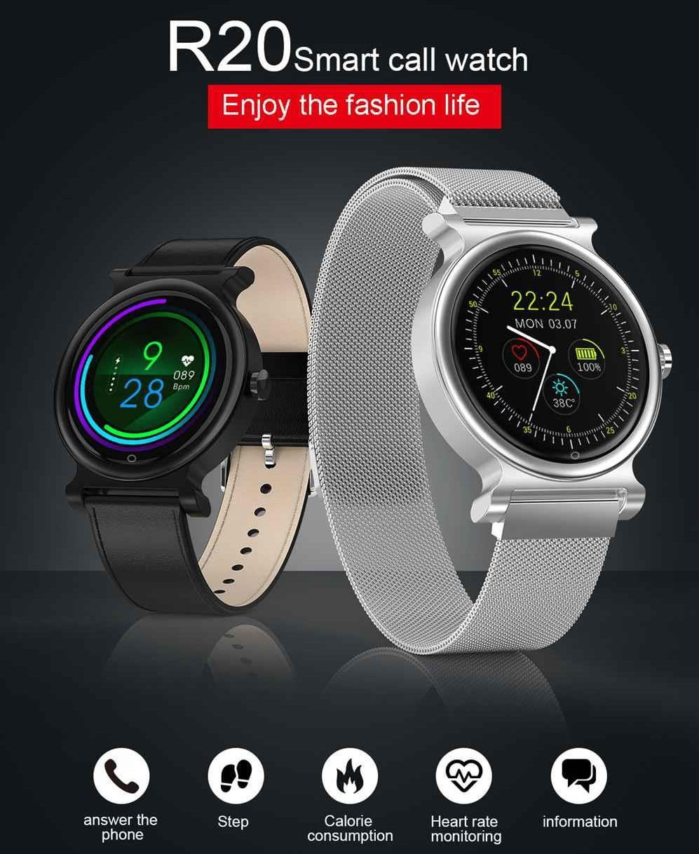 Makibes R20 Smartwatch 1.3 Inch LCD Colorful Screen Bluetooth 4.1