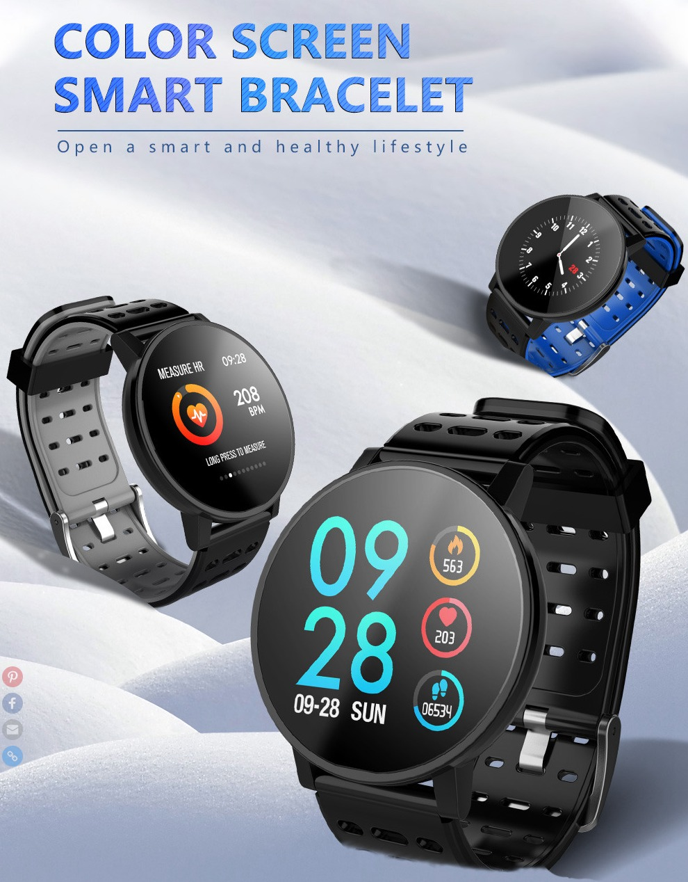 Makibes T3 Smart Watch