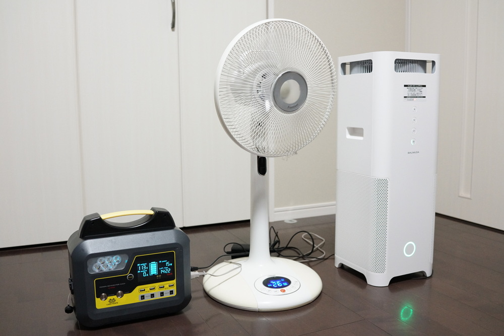 停電時に便利AC電源搭載で500Wまで使えるポータブル電源BOSSCAT AY-006レビュー