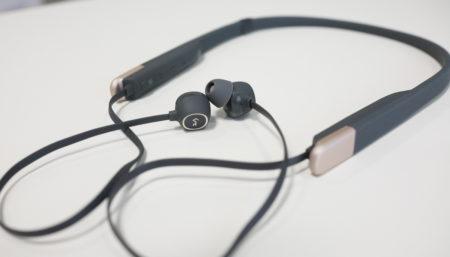 AUKEYの2台同時に通話待ち受け可能なネックバンド式Bluetooth5.0ワイヤレスイヤホンレビュー aptX LL低遅延対応!