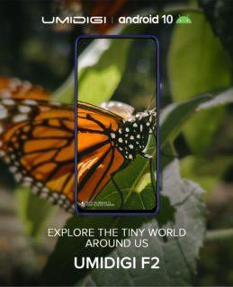 UMIDIGI F2 スペック公開!リアに48MPクアッドカメラ、フロントに32MPパンチホールカメラを搭載!