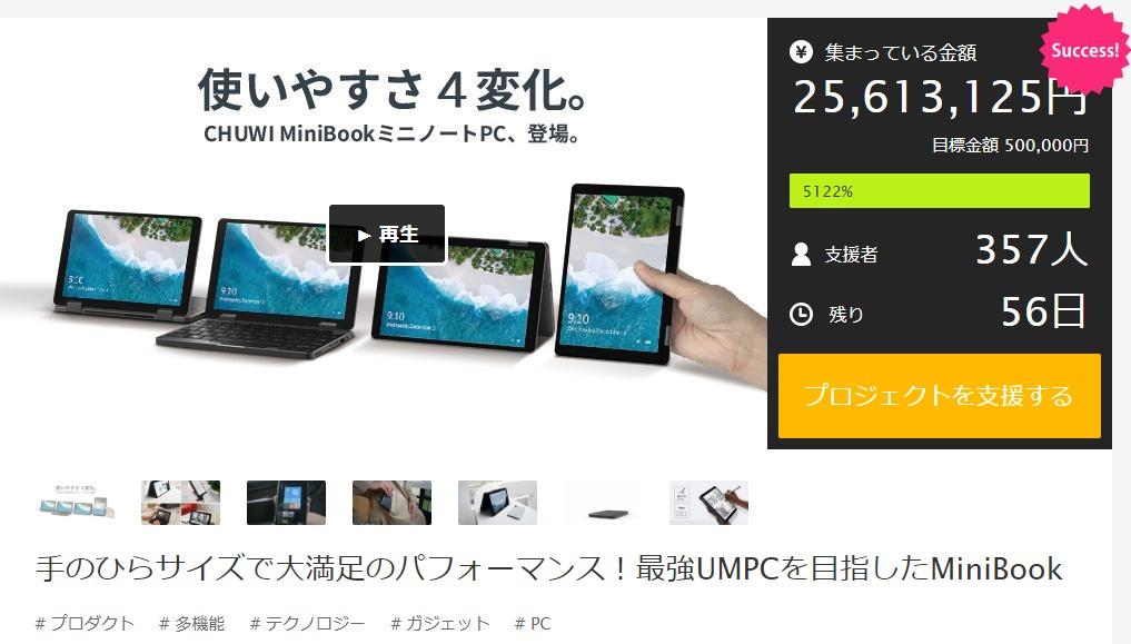 CHUWI MiniBookの購入