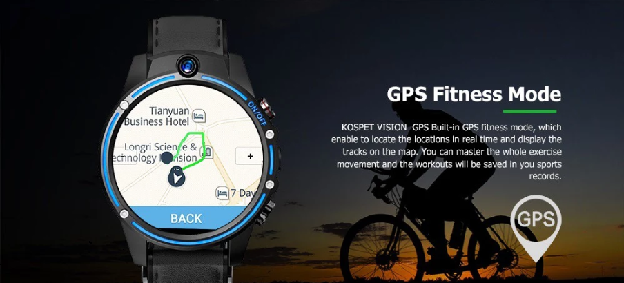 Kospet Vision 4G Dual Camera Smart Watch Phone