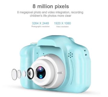 千円以下で買える子供用DC500フルカラー ミニ デジタルカメラ~動画も撮れて本格的!
