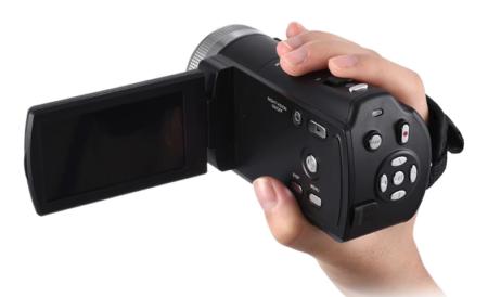 【セール価格4,505円】Andoer V12 1080P フルHD&16倍ズーム撮影ができるデジタルハンディーカメラ
