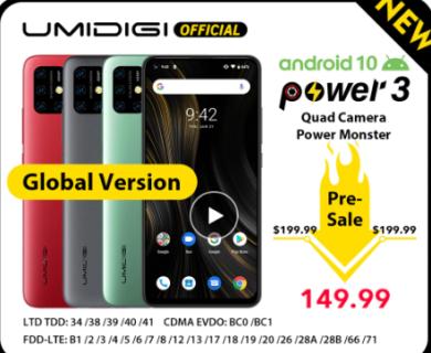 【セール予告】UMIDIGI Power 3 VS Xiaomi Redmi Note 8【2日間限定で$149.99】