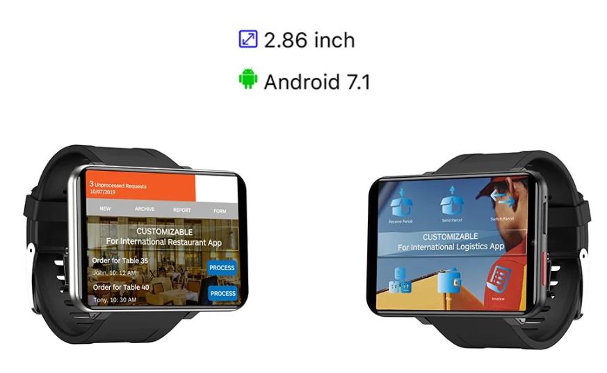 『LEMFO LEMT』LTE対応2.86インチの大画面を搭載したスマートウォッチフォン