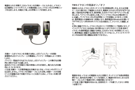 AmazonおすすめIPX7完全防水・AAC対応・Bluetooth5.0+EDR搭載 左右完全独立型イヤホンX6proレビュー 使い方の説明参照画像