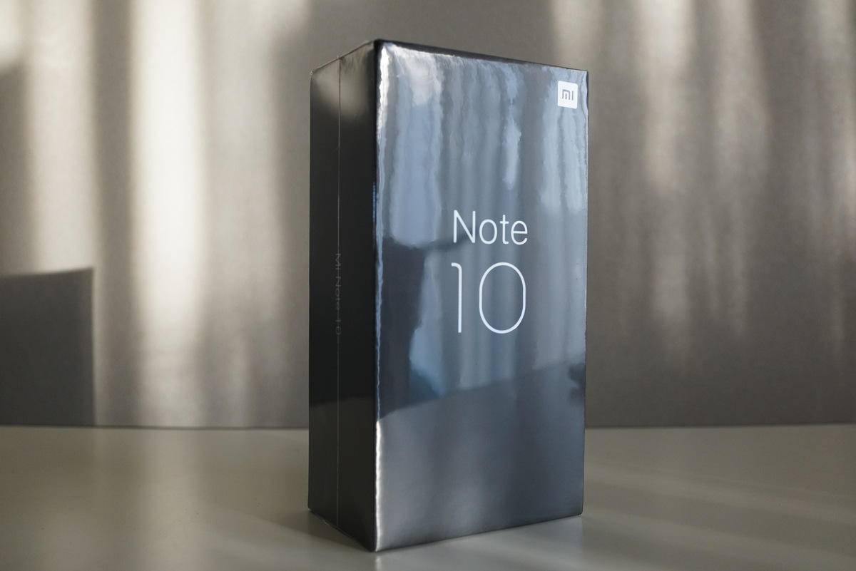 Xiaomi mi note 10 外観写真レビュー