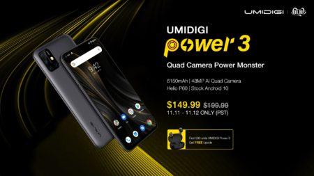 本日17:00よりUMIDIGI Power 3のグローバルセールが開始~2日間限定で$149.99の特価価格になります!
