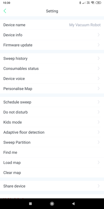 BlitzWolf® BW-VC1対応のBlitzWolf Cleanアプリについて ファームのアップデートの方法の説明参考画像