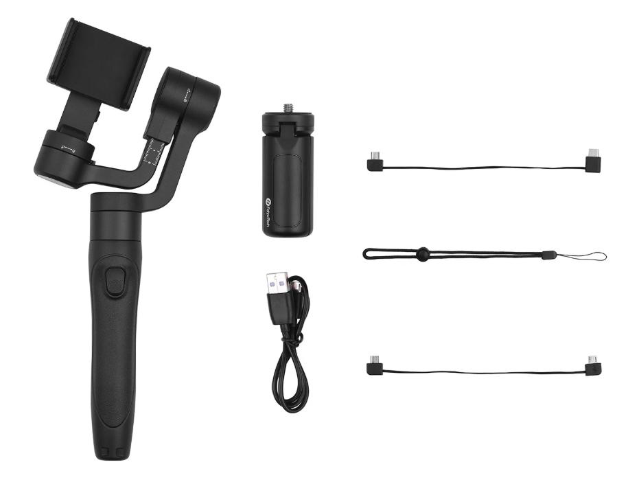 ハンドルが伸縮するスマホ用ジンバル FeiyuTech Vimble 2Sのスペックレビュー