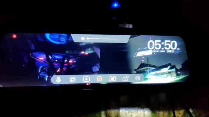 前後カメラ対応ミラー型ドラレコ レビュー 搭載の機能の紹介参考画像