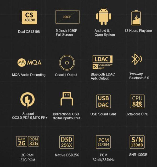デュアルCS43198チップ・Android 8.1搭載のDAP『iBasso DX160』登場!