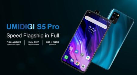 UMIDIGI S5 Proが登場!B6/B18/B19対応・6.39インチ・Helio G90T・ポップアップカメラを搭載!