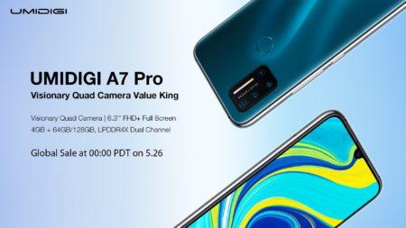 UMIDIGI A7 Pro 登場!フルバンド対応、クアッドカメラ搭載で$150以下というコスパ最強スマホ