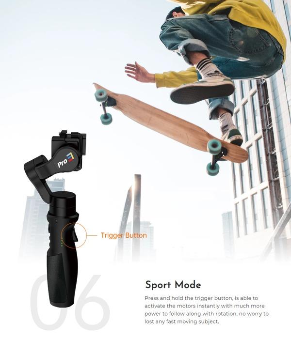 hohem iSteady Pro 3 は7つの撮影モードを搭載