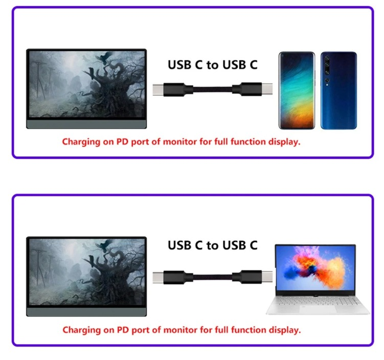 T-bao T13A 13.3インチの携帯をPD充電しながら利用できるモニター