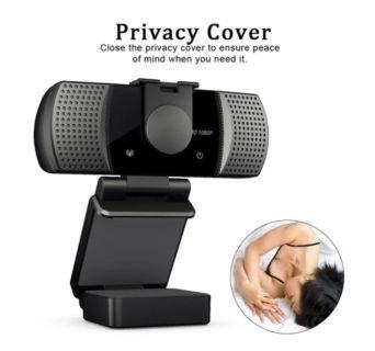 プライバシー保護機能とノイズキャンセルマイク付き1080pワイド広角ウェブカメラが$20.66(2,116円)でセール中
