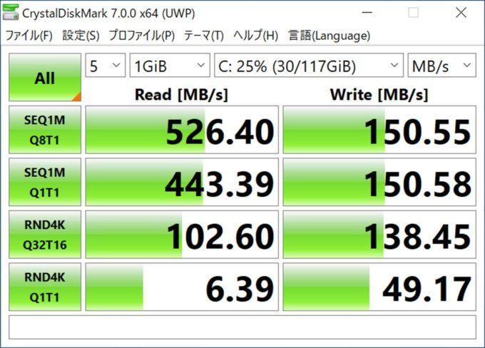 Jumper EZbook X3 AirのCPU性能・ベンチマーク