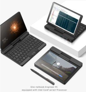 『One Netbook A1』M3-8100Y・7インチ・画面が360度回転するUMPCが$589.99よりセール中!