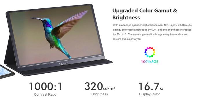 15.6インチポータブルディスプレイ 2020 Lepow Z1がtiktechで15698円にてセール中~