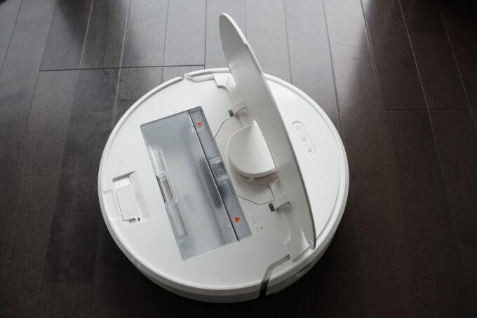 Dreame D9 ロボット掃除機の外観レビュー ダストボックスのゴミ捨てについての説明