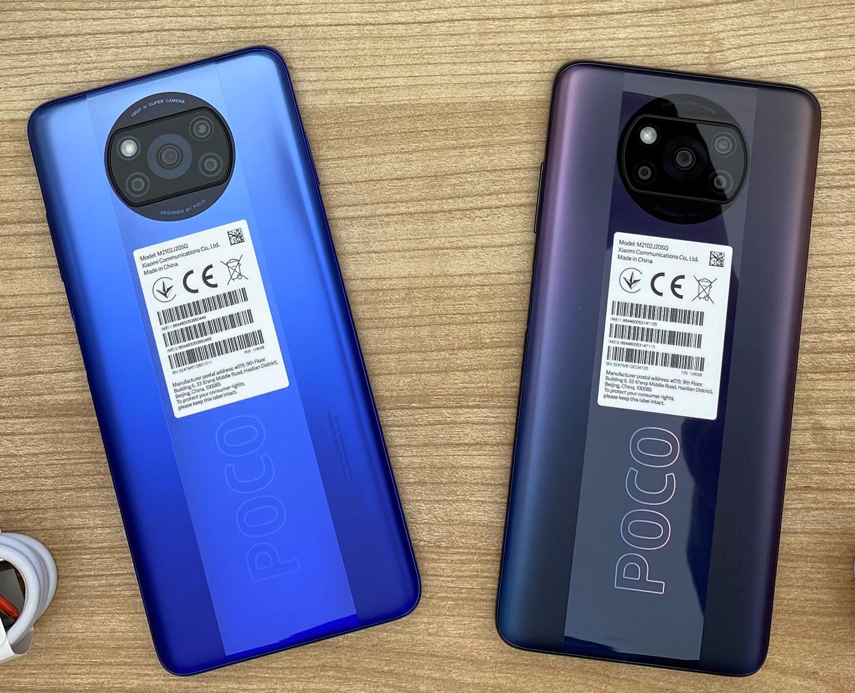 POCO X3 Proの実機の写真