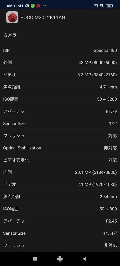 POCO F3のAntutuで見る端末内部詳細