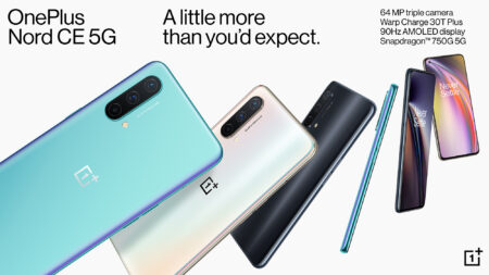 Oneplus Nord CE 5Gが登場~AliExpress official Storeで$309より販売中!