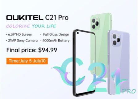 OUKITEL C21 Pro 約1万円で買える6.39インチ・3眼カメラ搭載のコスパスマホ!