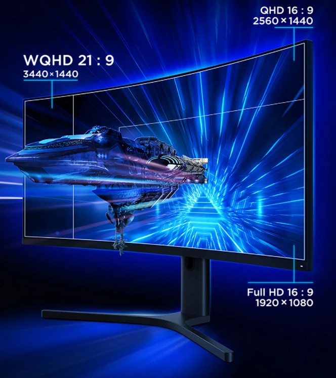 XIAOMI Curved Gaming Monitor 34-Inch 21:9 の特徴 21:9のディスプレイは高解像度・高輝度・高コントラスト