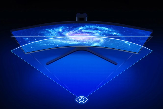 XIAOMI Curved Gaming Monitor 34-Inch 21:9 の特徴 1500Rの大きな曲率で没入感を演出