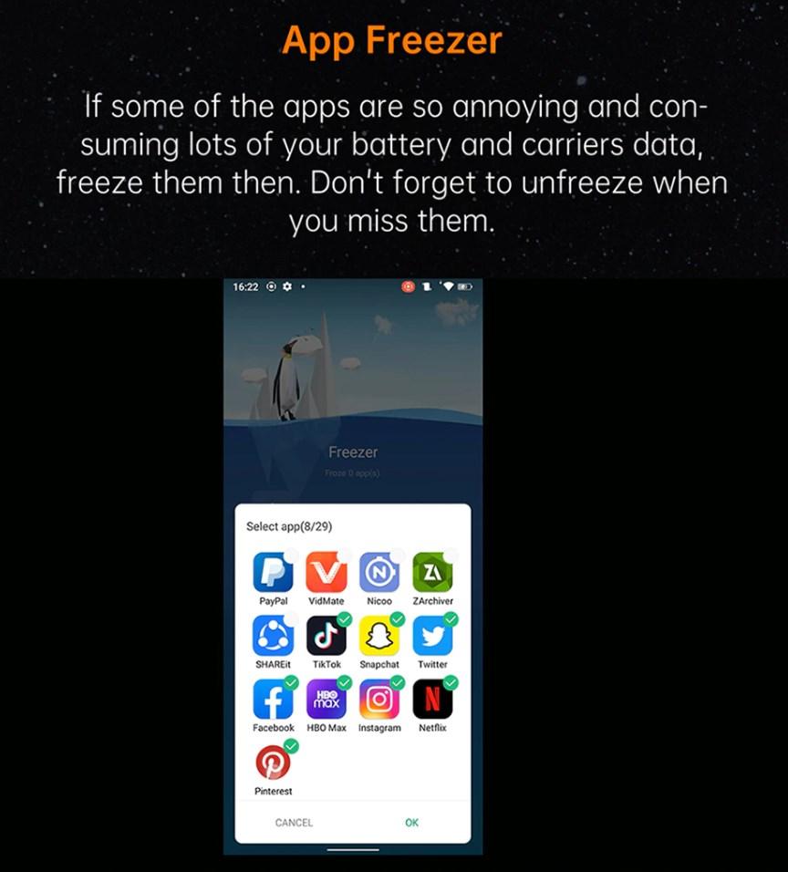 Oukitel WP15 レビュー 不要なアプリは止める事ができる