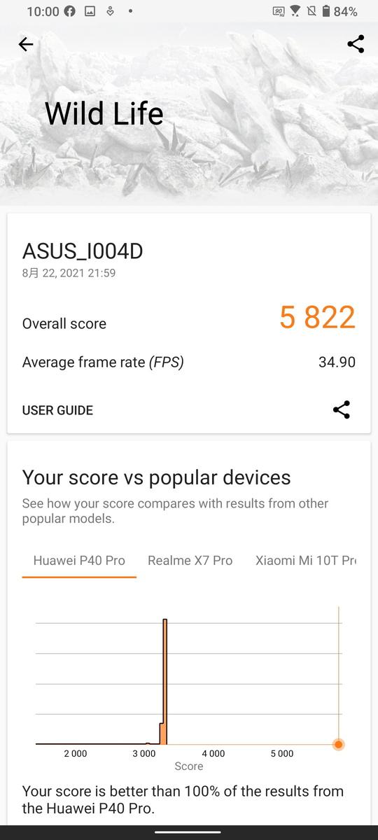 ASUS Zenfone 8 Flipの3D Mark