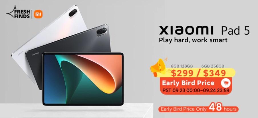 Xiaomi Pad 5は$299より早割セールが予定されています