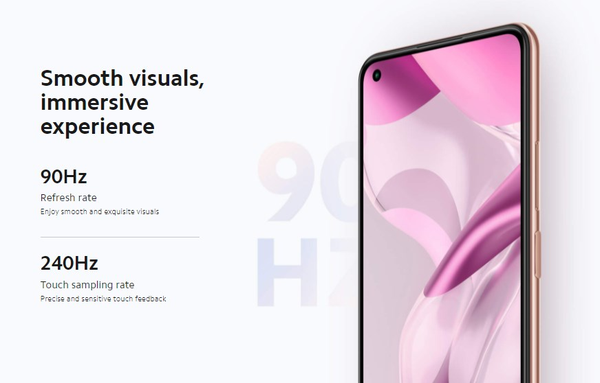 Xiaomi 11 Lite 5G NEはリフレッシュレート90Hzに対応
